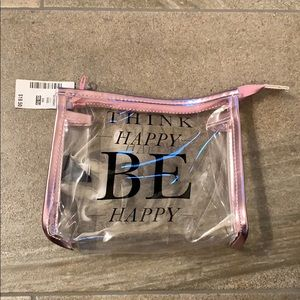 "Bags - ""Think Happy Be Happy"" zipper bag"
